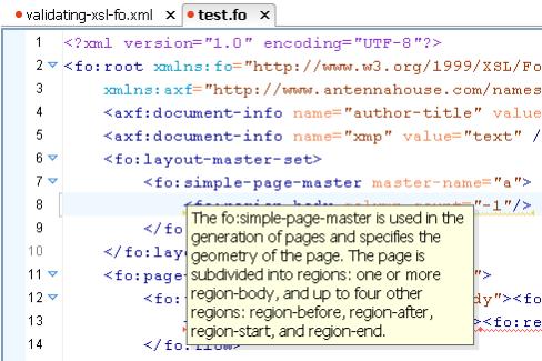 focheck XSL-FO Validation Framework